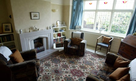 The lounge at 'Mendips', the childhood home of former Beatle, John Lennon in Liverpool.