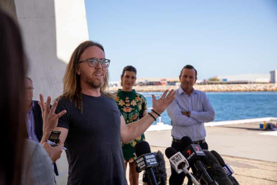 Tim Minchin at announcement of Fremantle's $100m studio.