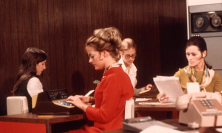 Typecast ... a secretarial office in the 1970s.