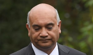 Keith Vaz leaves his home in north-west London on Monday