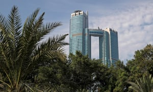 the Nation Towers in Abu Dhabi.