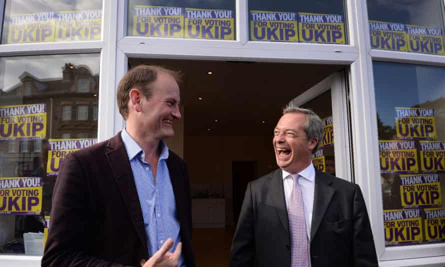 Douglas Carswell with Nigel Farage after winning a byelection for Ukip in Clacton in 2014