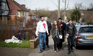 Labour council candidates on the canvassing trail in Hale, north London.