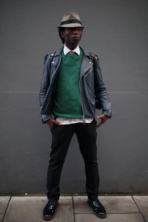 Photographer Zokaya Kamara in a Hardy Amies jumper.