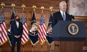 Joe Biden speaks at Emory University in Atlanta, Georgia.