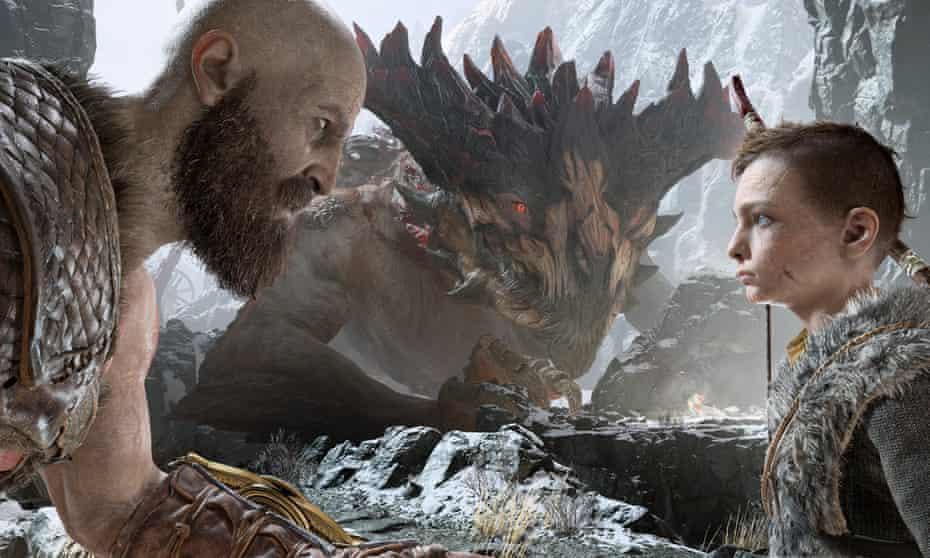 Kratos and Atreus in God of War.