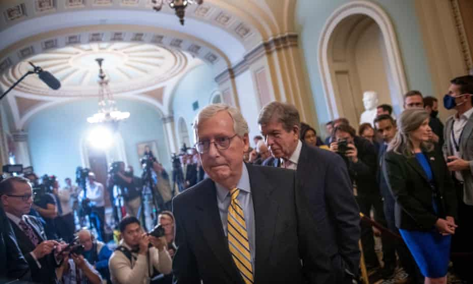The Senate minority leader, Mitch McConnell, ensured that the procedural vote on the For the People Act received no Republican support.