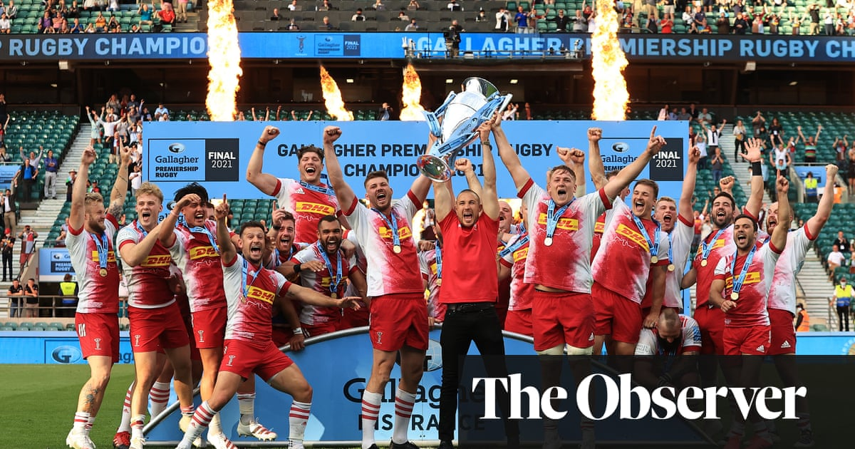 Harlequins end wait for Premiership title with thrilling final win over Exeter