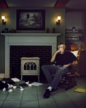 Stephen King at his home in Maine, USA.
