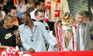 Thierry Henry, Patrick Viera and manager Arsene Wenger