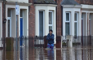 Local residents leave their homes as Storm Desmond causes flooding in Carlisle