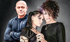 Ross Kemp with goths.