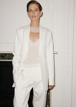 Nineties supermodel Stella Tennant, someone Beckham said she greatly admired, opened the show.