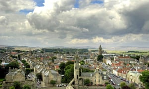 The university town of St Andrews, on the east coast of Fife in Scotland.