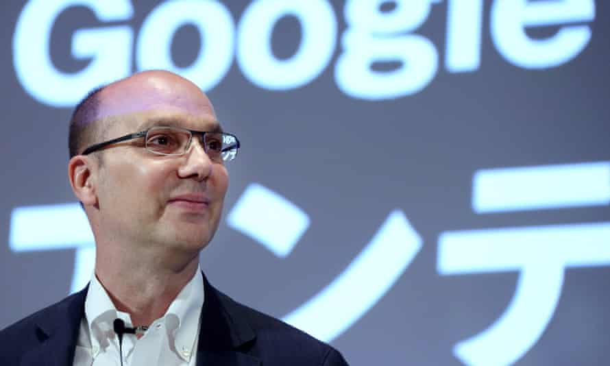 Andy Rubin in 2013. The New York Times reported that Rubin earned $90m in severance after Google's former CEO Larry Page asked him to resign.