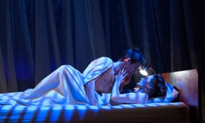 Too funny to be prurient … Jack Monaghan as Benjamin and Catherine McCormack as Mrs Robinson.