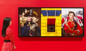 Malcolm Morley's Trafalgar-Waterloo 2013, shown in Tate Britain's Fighting History exhibition in 2015, included a cannon from HMS Victory.