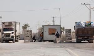 File photo of the Kerem Shalom crossing into the Gaza Strip, one of two reopened for the first time since Monday.