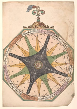 A volvelle used to indicate the course of an illness according to the moon's age in days, from Astronomicum Caesareum by Peter Apianus (c.1540)