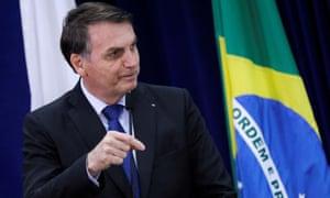 Jair Bolsonaro in Brasilia, Brazil Monday.
