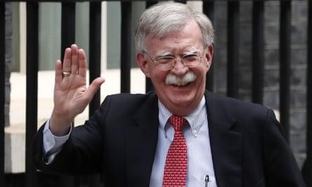 John Bolton arrives at Downing Street to meet Sajid Javid on 13 August.