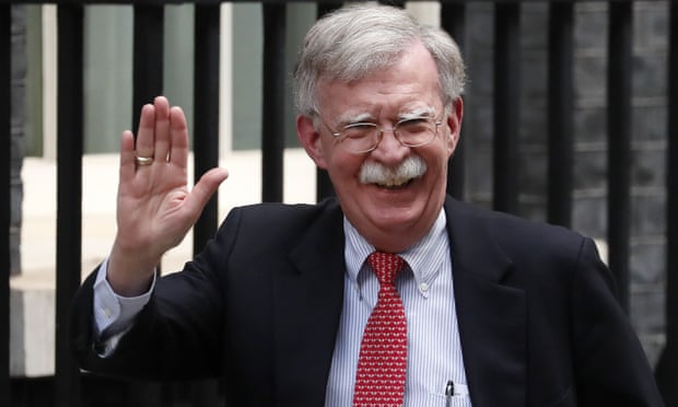 John Bolton arrives at Downing Street to meet Sajid Javid on 13 August.