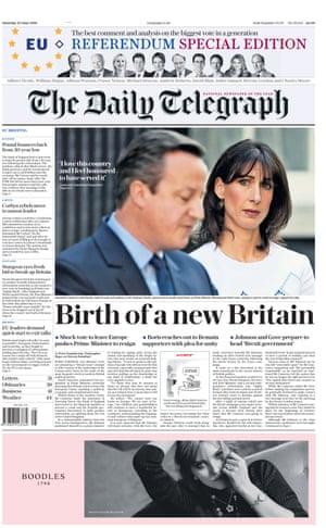 Telegraph Saturday 25th June 2016