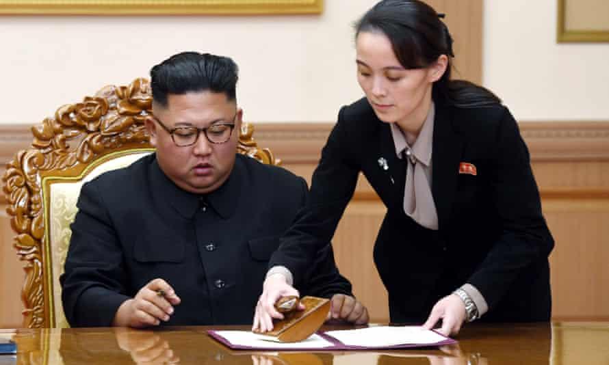 Kim Yo-jong, here with brother and North Korean leader Kim Jong-un
