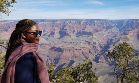 Ella Paradis at the Grand Canyon.