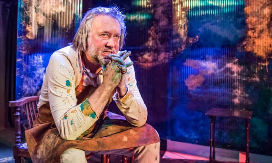 Wild eyed... Jasper Britton as August Strindberg.