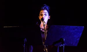 Diamanda Galás on stage at the Fondation Cartier in Paris this March