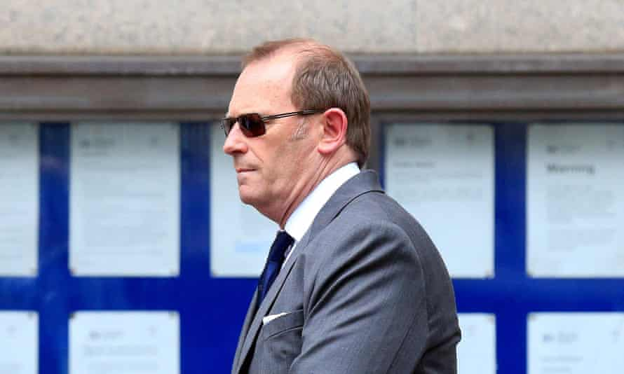 Ex-specialist firearms officer Anthony Long outside the Old Bailey in London.
