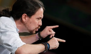 Pablo Iglesias, leader of Podemos: 'The party is now engaged in profound soul-searching.'