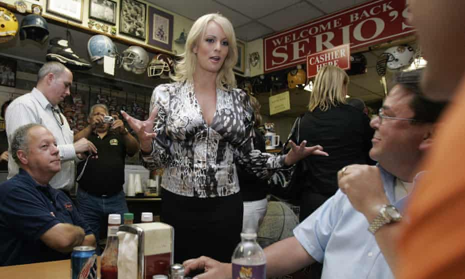 Stormy Daniels in New Orleans in May 2009. Her interview with Anderson Cooper on CBS 60 Minutes is likely to break viewership records.