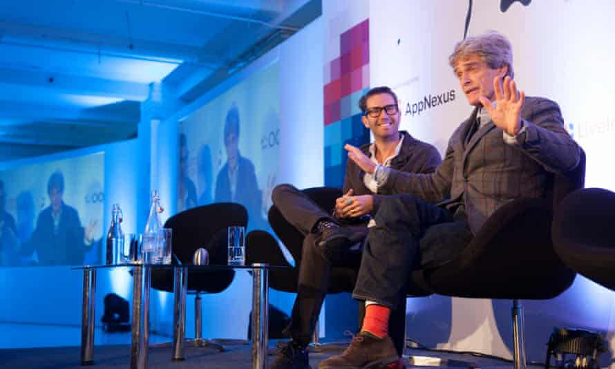 Pelle Sjoenell and Sir John Hegarty talk about creativity in the digital age at the Guardian Changing Media Summit 2016