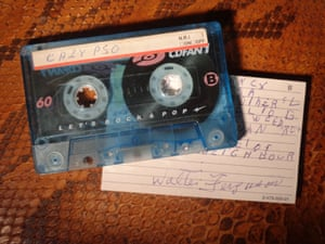 One of the rediscovered cassettes.