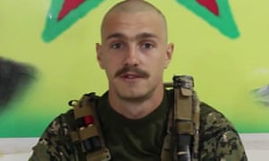 Photograph of Ollie Hall issued by the Kurdish People's Protection Units (YPG)
