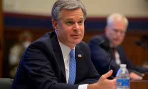 Christopher Wray, FBI director, testifies before a House committee.