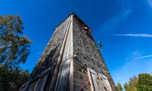 The only way is up … the climbing tower, Beechenhurst, Gloucestershire.