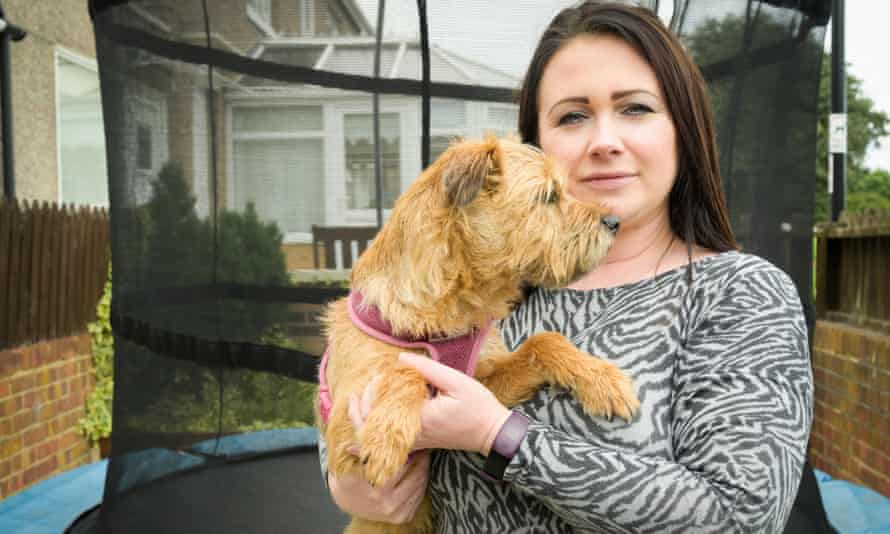 Amy McDermott with her dog Trinny