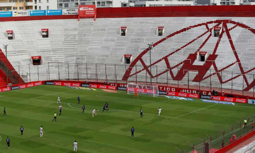 A game behind closed doors in Buenos Aires. Clubs will have to be 'creative about how they can drive revenues from matchdays without fans in the stadium'.