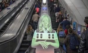 A hologram at Holborn tube station