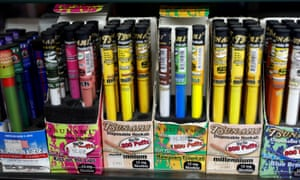 Vaping products are displayed for sale in a shop in Manhattan. Tobacco and menthol-flavored e-cigarette products would not be banned, Cuomo said.