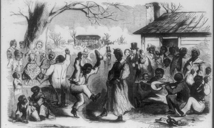 Winter holidays in the southern states. Plantation frolic on Christmas Eve. Illus. in: Frank Leslie's Illustrated Newspaper, 1857 Dec. 26