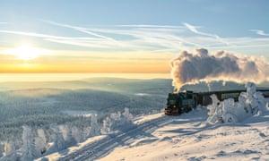 The Brocken railway, in Harz National Park, Saxony-Anhalt.