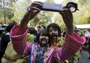 Fans take a selfie