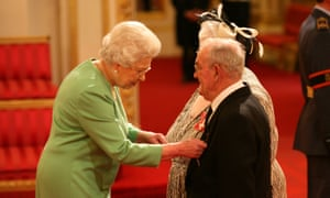 Penelope Jones and Ronald Jones received their MBEs from Queen Elizabeth II at a ceremony at Buckingham Palace in 2010.