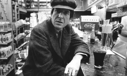 Canadian singer-songwriter Leonard Cohen in a diner in New York circa 1968.