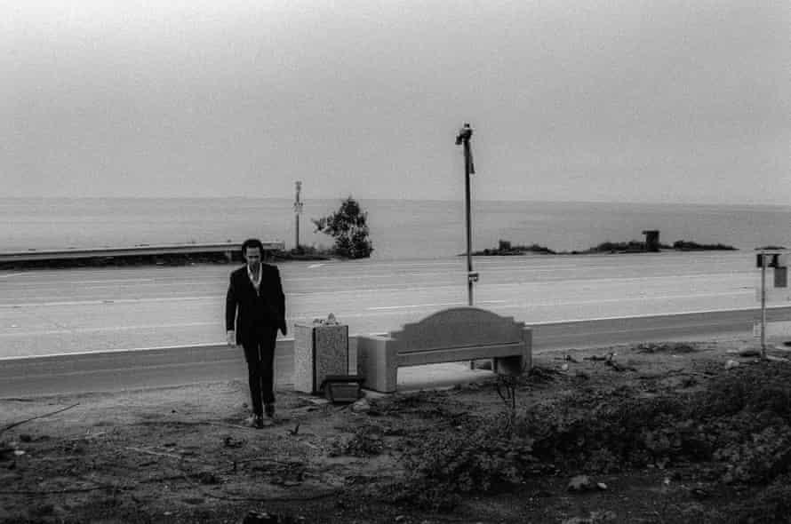 Nick Cave near the beach