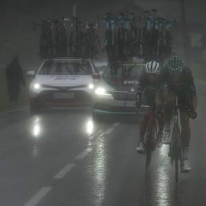 Riders climb Col du Pré on the Tour de France